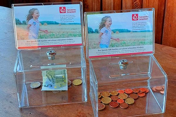 Arche Herzensbrücken Spendenbox