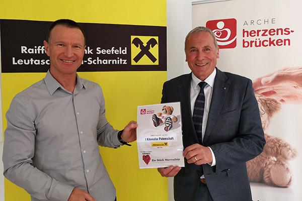 Kilometerpatenschaft Arche Herzensbrücken für schwer erkrankte Kinder in Tirol